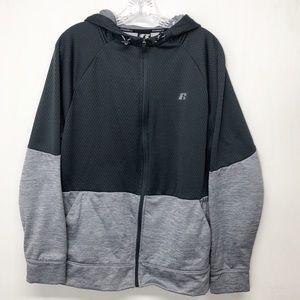 Russell Tech Fleece Zip Up Front Hoodie Jacket